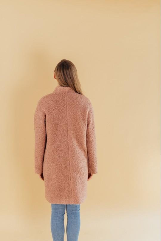 Пальто женское Valentir со спущенным плечом на кнопках