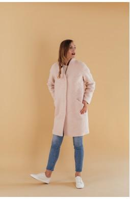 Пальто со спущенным плечом Valentir на кнопках Розовый