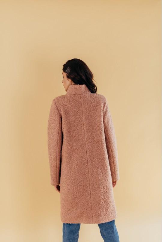 Пальто с воротником стойка Valentir Бежевое