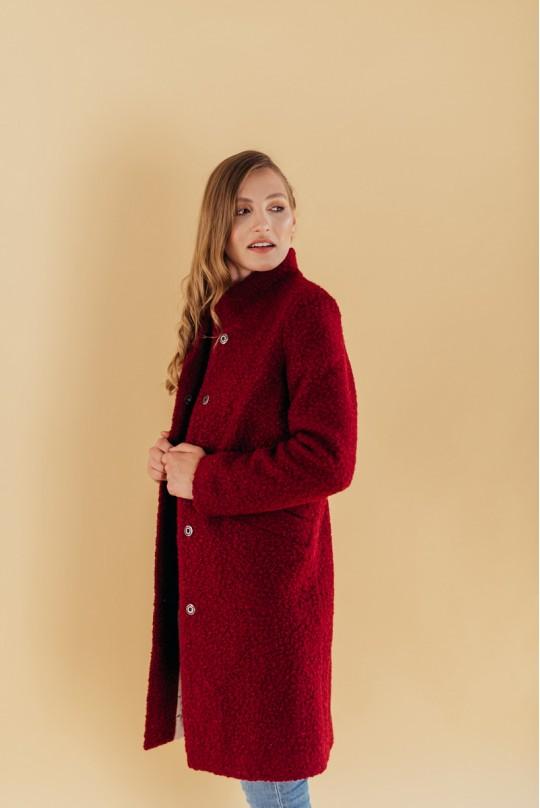 Пальто с воротником стойка Valentir Марсала
