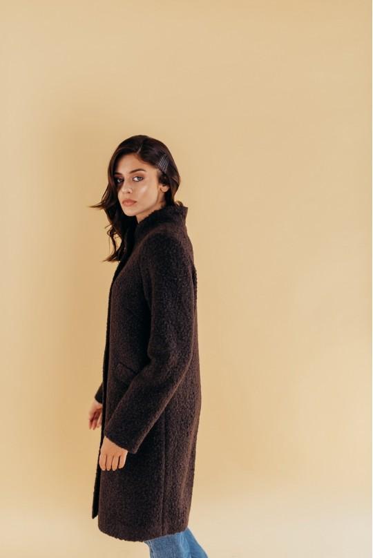 Пальто с воротником стойка Valentir Черное