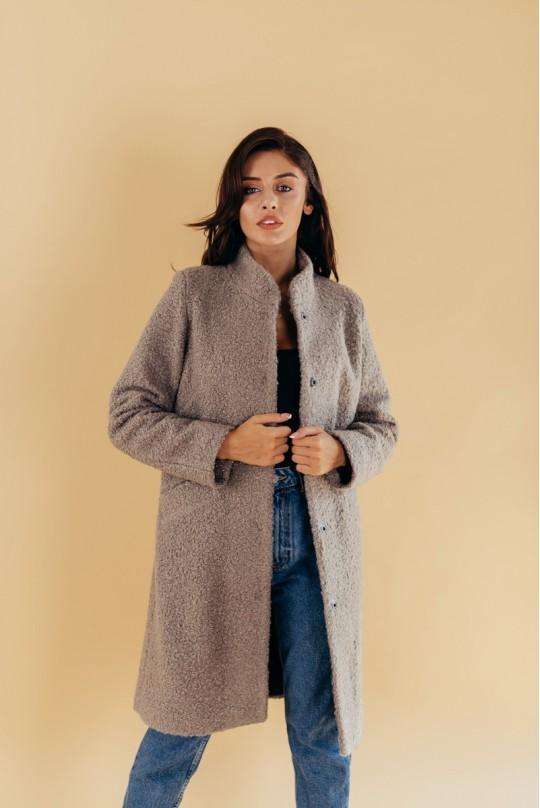 Пальто женское демисезонное Valentir с воротником стойка